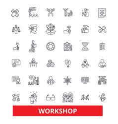 workshop seminartraining conference garage vector image