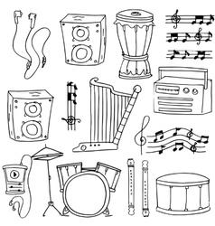 Element music theme doodles vector image