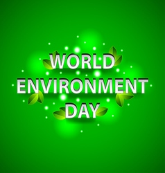 World environment day concept on green background vector
