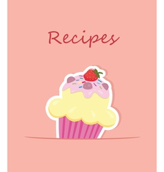 Cupcake recipe vector