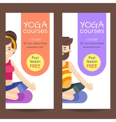 Flat style design template for yoga flyer vector