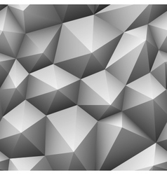 Gray triangle seamless low-poly background vector