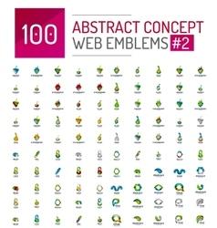 abstract concept web internet logo mega set vector image