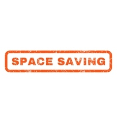 Space saving rubber stamp vector