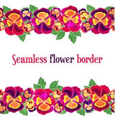 seamless floral border design for wedding vector image