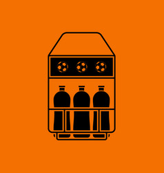 Soccer field bottle container icon vector
