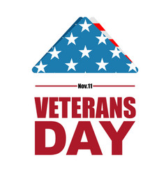 Veterans day usa flag symbol of mourning and vector