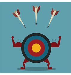 Strong target and arrow business concept vector