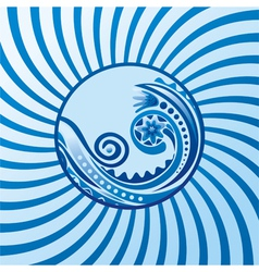 Beautiful sea wave vector