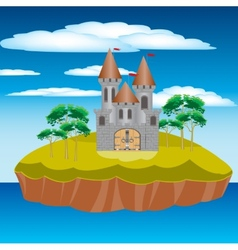 Fortress on island vector