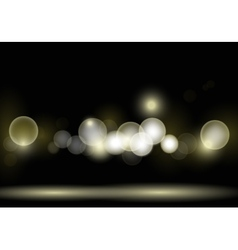 Night bokeh vector