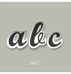 Paper uppercase alphabet with shadows vector