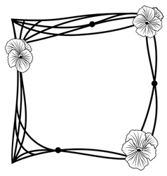 Pansy frame vector