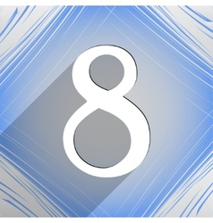 Number eight icon symbol flat modern web design vector