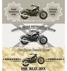 Motorcycle banners vector