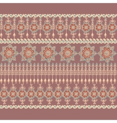 Decorative border in indian style vector