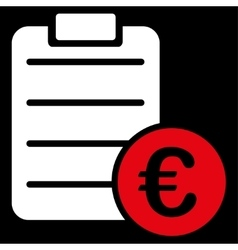 Agreement icon from bicolor euro banking set vector