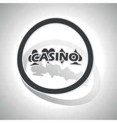 Casino sign sticker curved vector