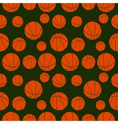 Seamless pattern with elements of orange basketbal vector