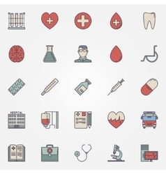 Medical colorful icons vector image