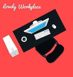 Office or freelancer workplace vector