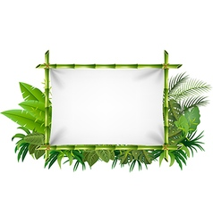 Cartoon of blank sign with nature concept vector