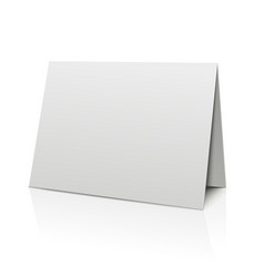 Blank folder paper card isolated on white vector