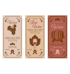 Wine bottle labels vector