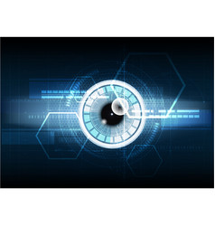 Abstract technological eye scanning hud security vector
