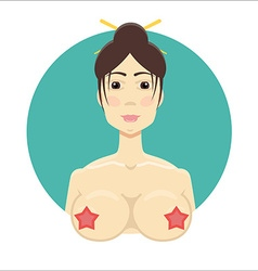 Asian nude girl vector