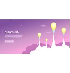 Business idea banner horizontal cartoon style vector