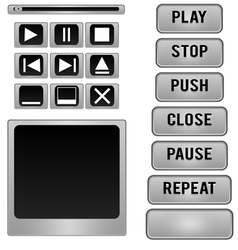 Button player vector image