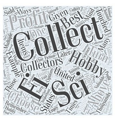 Can a hobby of collecting turn profitable word vector