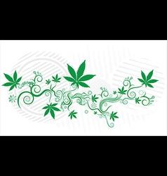 Cannabis Marijuana green leaf texture background vector image