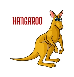 Cartoon kangaroo character vector image