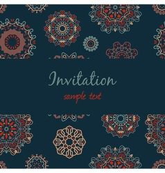 Colorful invitation with floral ornament vector
