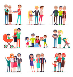 concept of parents day on white background flat vector image vector image