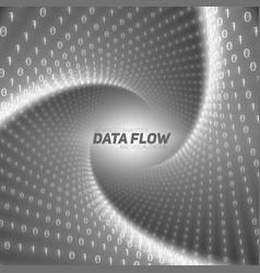 data flow visualization black flow vector image vector image