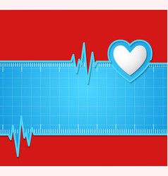 Electrocardiogram useful as background vector