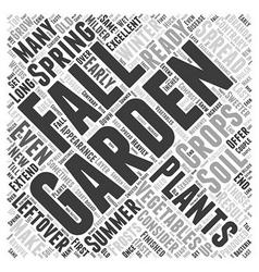 Fall gardening word cloud concept vector