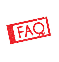 Faq rubber stamp vector
