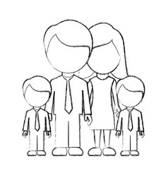 Figure family their boys twins icon vector