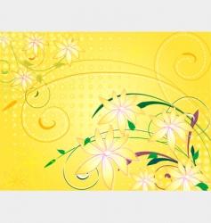 flowers vanilla vector image vector image