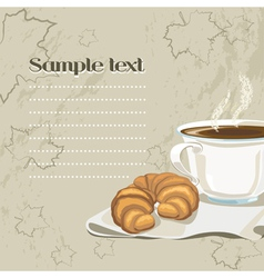 French breakfast vector image
