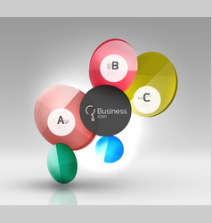 glass circles banner vector image