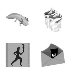 History tourism nature and other monochrome icon vector