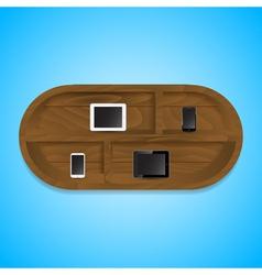 mobile shelf vector image vector image