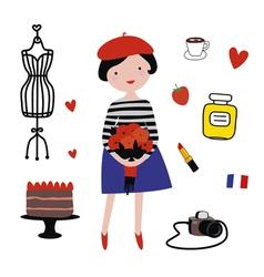 Paris style clipart vector image