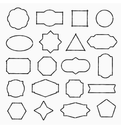 Pencil drawn shapes vector image