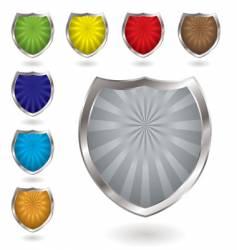 radiate shield vector image